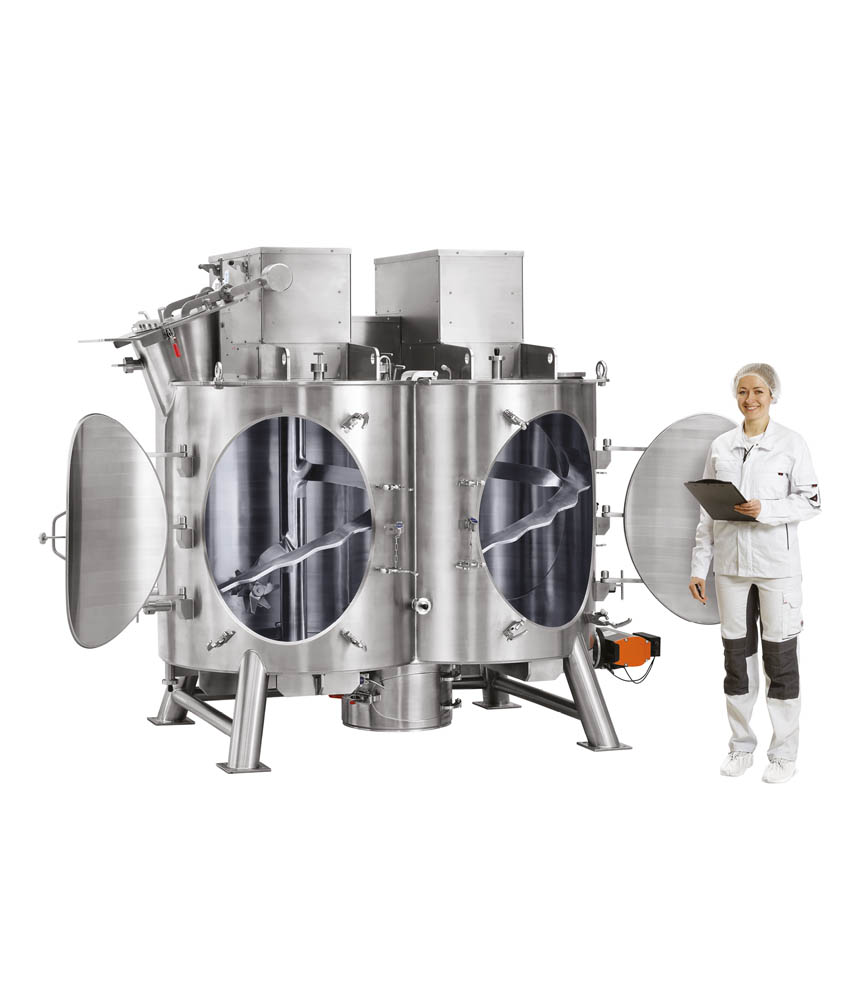 twin shaft multifunction mixer for detergent manufacturing