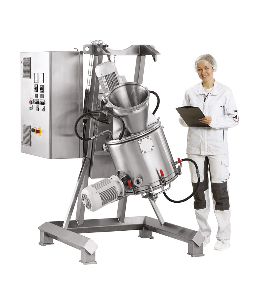 Small batch mixer for private label nutraceuticals